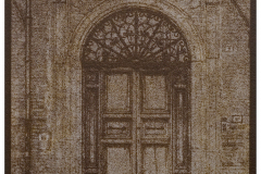 """Church Door Norcia"" © Alan Glover. Approx 7x5"" handcrafted gum bichromate print from a single negative using watercolour pigments on Hahnemuhle Platinum Rag paper. GALLERY5X7 offers this original print, signed on the mount (mount size 12x8.25""), at $250."