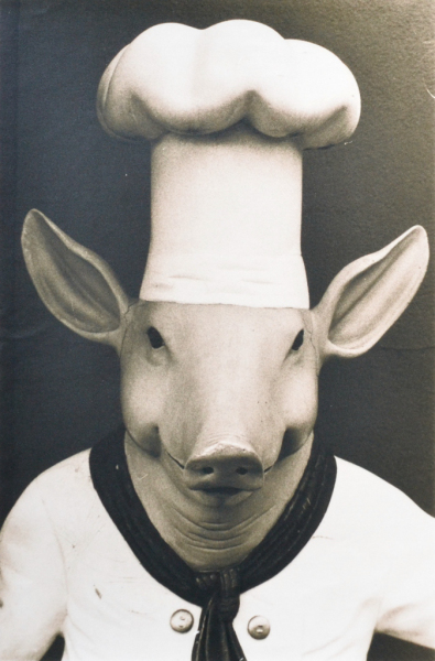 """Pig"" © Barry Mayfield. Approx. 7.5X11.5"" (19X28.5cm) handcrafted alternative process photograph (silver gelatin lith print). GALLERY5X7 offers this signed, original print at $250."