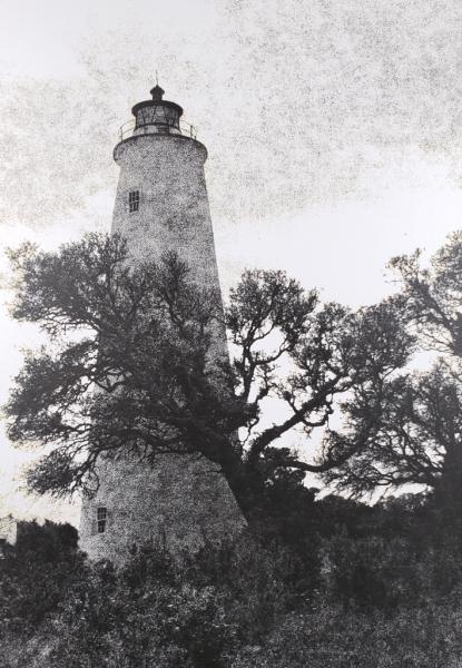 """""""Ocracoke Island Light Oak"""" © WJ Eastman.  Offered by GALLERY5X7."""
