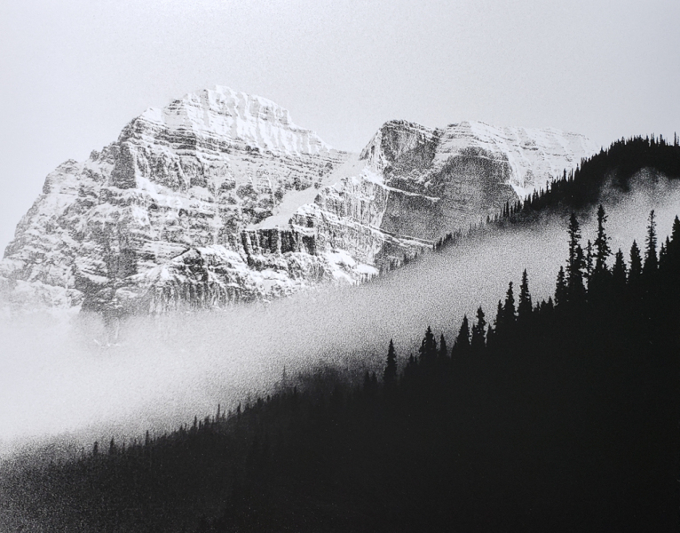 """Rockies Valley Fog"" © WJ Eastman. Offered by GALLERY5X7."