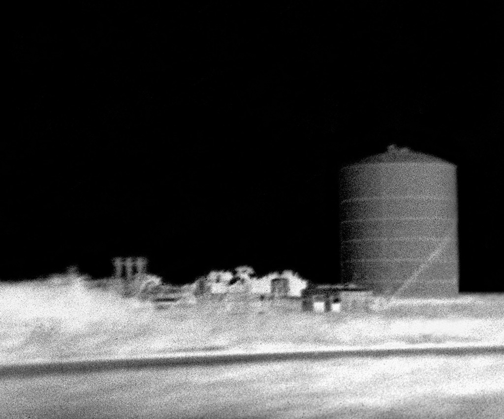 """Silo"" © Marc Sirinsky. Approx. 7.5x9"" handcrafted silver gelatin print from from antique bakelite camera negative. Original, signed, editioned (1/10) print offered at $250."