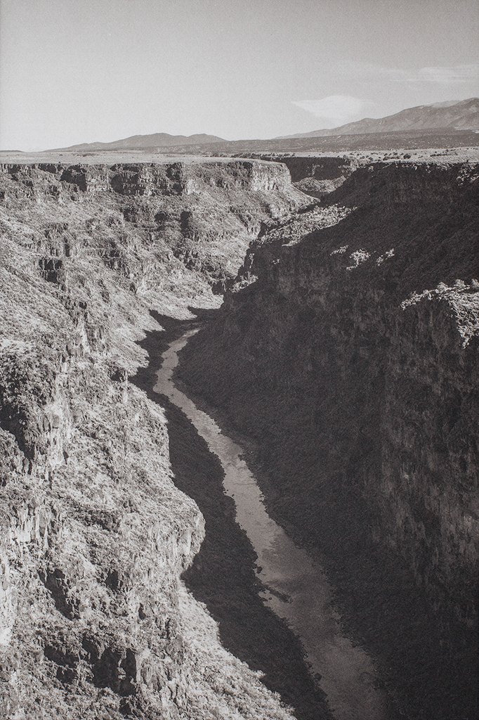 """""""Taos Gorge New Mexico"""" © Tom Wise. Taos Gorge near Taos New Mexico. Approx. 6x9"""" (15.2x22.9cm) handcrafted alternative process photograph (palladium and gold-toned kallitype). GALLERY5X7 offers this signed, original print at $250."""
