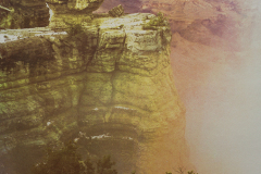 """Grand Canyon National Park"" © Tom Wise. Fog uplift near Duck Rock at Grand Canyon National Park in Arizona. Approx. 14x21"" (35.6x53.3cm) handcrafted alternative process photograph (gum bichromate over cyanotype). GALLERY5X7 offers this signed, original print at $1,000."