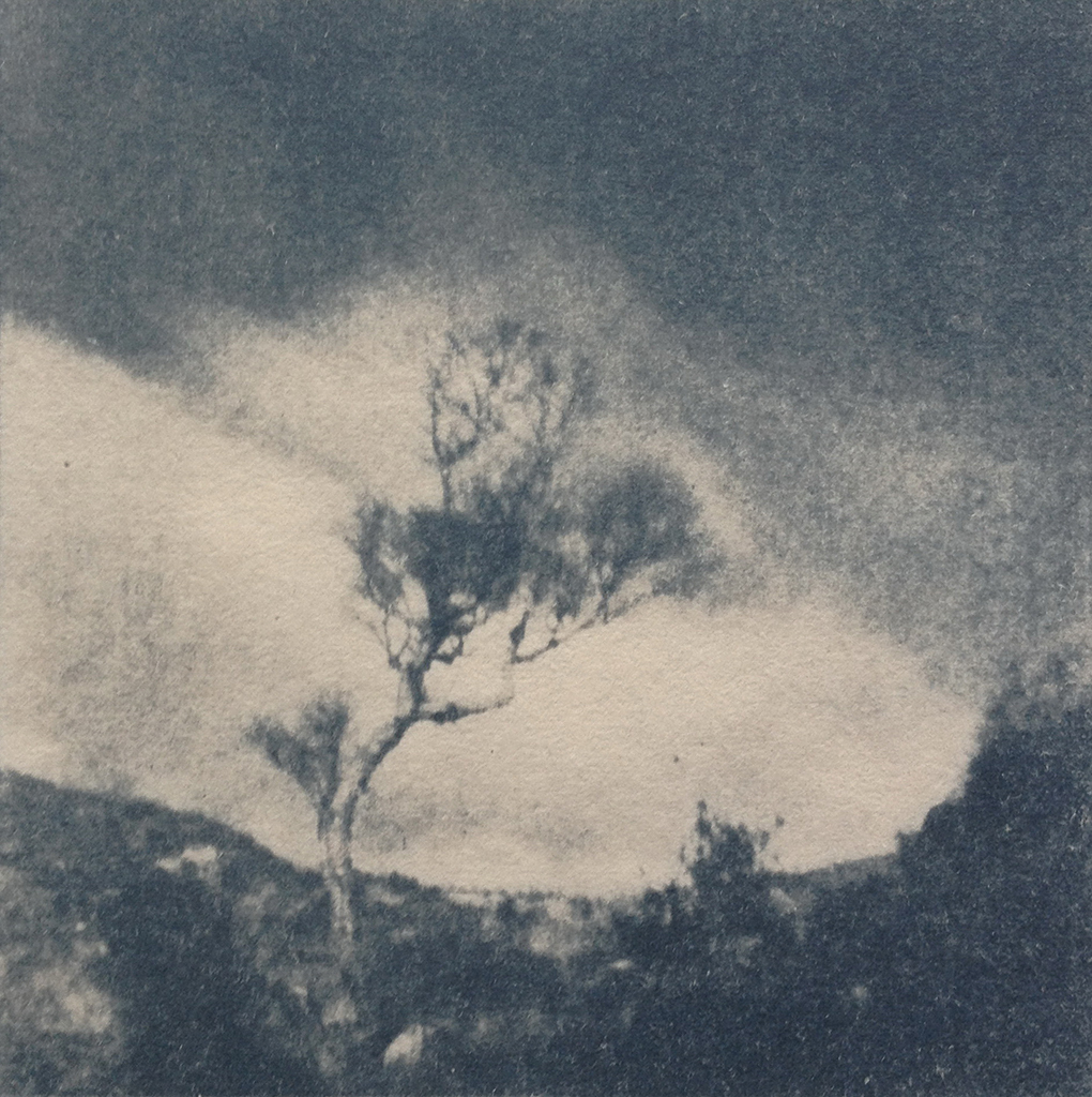 """Donnegal"" © Victor Senkov. Print from handmade pinhole plate from vintage Soviet Svema B/W film. Approx. 5.1x5.1"" (13x13cm) handcrafted alternative process photograph (cyanotype, toned). GALLERY5X7 offers this signed, numbered and stamped original artist print at $250."