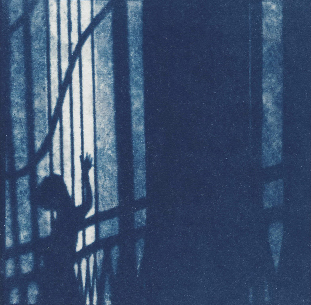 """Orpheus"" © Victor Senkov. Print from handmade pinhole plate from vintage Soviet Svema B/W film. Approx. 5.1x5.1"" (13x13cm) handcrafted alternative process photograph (cyanotype, toned). GALLERY5X7 offers this signed, numbered and stamped original artist print at $250."